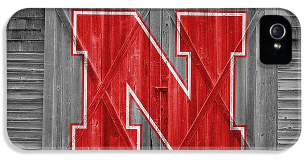 Nebraska iPhone 5 Case - Nebraska Cornhuskers Barn Doors by Joe Hamilton