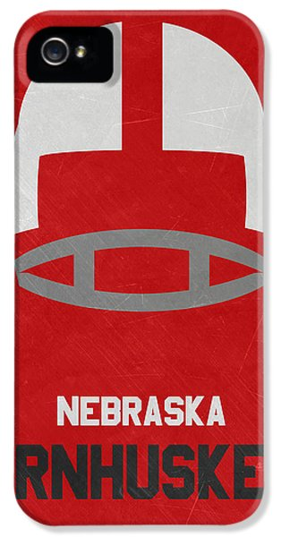 Nebraska iPhone 5 Case - Nebraska Cornhuskers Vintage Art by Joe Hamilton