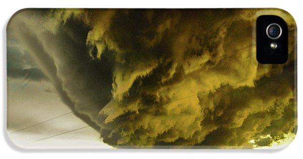 Nebraskasc iPhone 5 Case - Nebraska Supercell, Arcus, Shelf Cloud, Remastered 018 by NebraskaSC