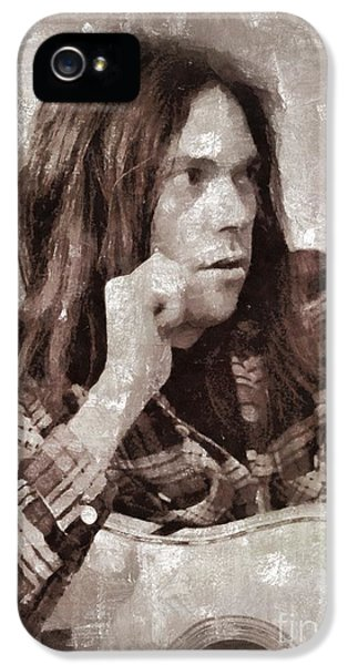 Neil Young By Mary Bassett IPhone 5 Case