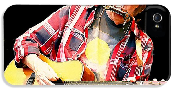 Neil Young IPhone 5 Case by John Malone