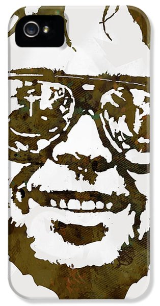 Neil Young Pop  Stylised Art Sketch Poster IPhone 5 Case by Kim Wang