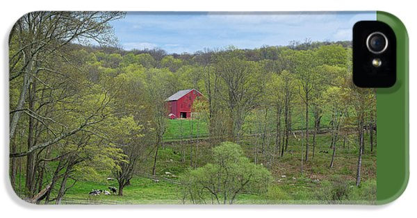 IPhone 5 Case featuring the photograph New England Spring Pasture by Bill Wakeley