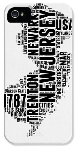 New Jersey Word Cloud 2 IPhone 5 Case by Naxart Studio