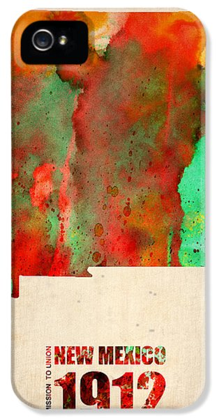 New Mexico Watercolor Map IPhone 5 Case by Naxart Studio