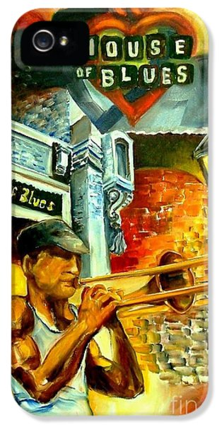 Trombone iPhone 5 Case - New Orleans' House Of Blues by Diane Millsap