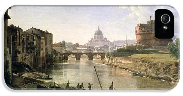 New Rome With The Castel Sant Angelo IPhone 5 Case by Silvestr Fedosievich Shchedrin