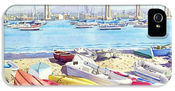 Ship iPhone 5 Cases - New Tidelands Park Coronado iPhone 5 Case by Mary Helmreich