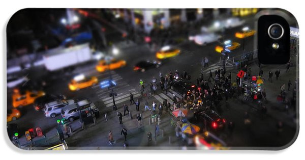 Broadway iPhone 5 Case - New York City Street Miniature by Nicklas Gustafsson