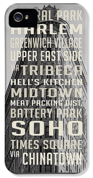 New York City Subway Stops Flat Iron Building IPhone 5 Case