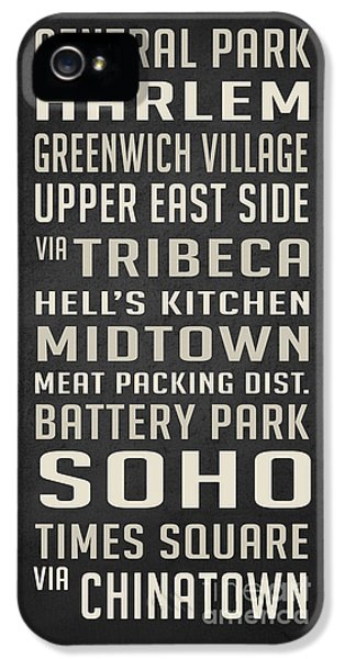 New York City Subway Stops Vintage IPhone 5 Case