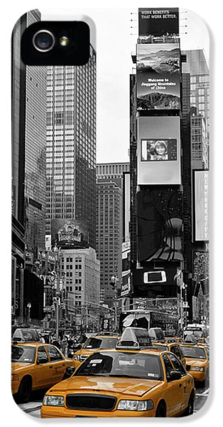 City Scenes iPhone 5 Case - New York City Times Square  by Melanie Viola
