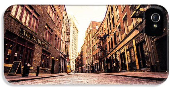 New York City's Stone Street IPhone 5 Case by Vivienne Gucwa