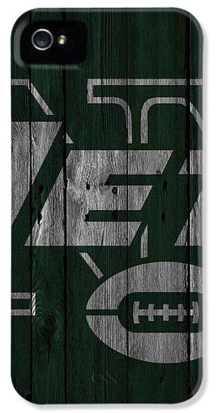 New York Jets Wood Fence IPhone 5 Case by Joe Hamilton