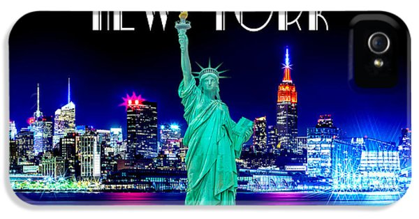 New York Shines IPhone 5 Case by Az Jackson