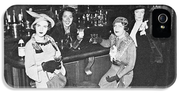 New York Society Women Enjoy Their First Legal Drink After The Repeal Of The Volstead Act In 1933 IPhone 5 Case by American School