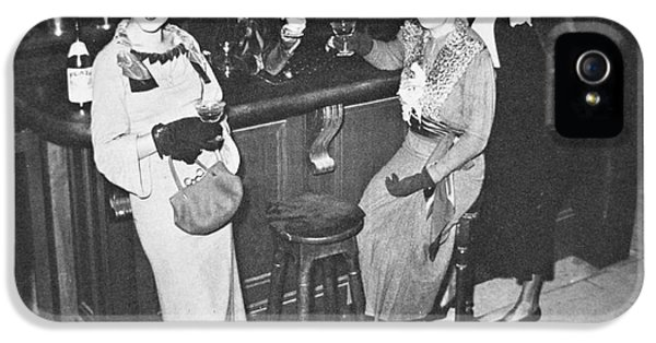 New York Society Women Enjoy Their First Legal Drink After The Repeal Of The Volstead Act In 1933 IPhone 5 Case