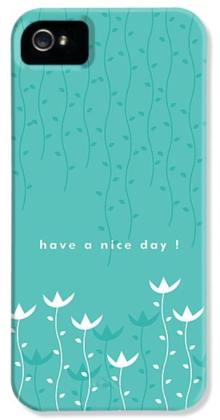 Flowers iPhone 5 Case - Nice Day by Kathleen Wong