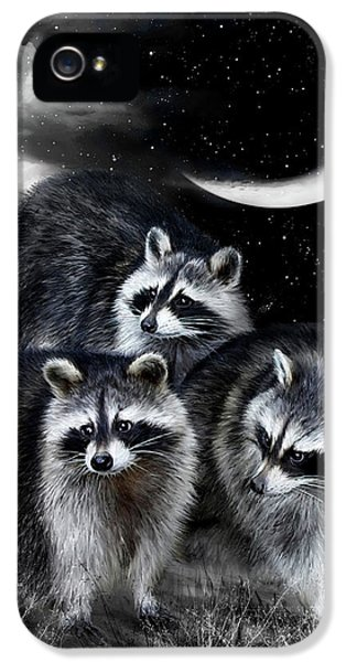 Night Bandits IPhone 5 Case by Carol Cavalaris