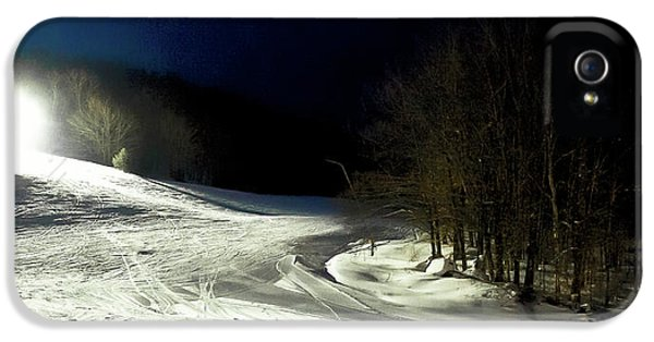 IPhone 5 Case featuring the photograph Night Skiing At Mccauley Mountain by David Patterson