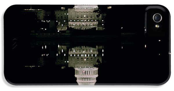 Night View Of The Capitol IPhone 5 Case by American School