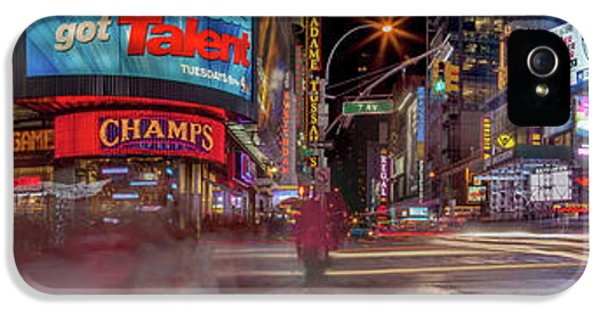 Times Square iPhone 5 Case - Nights On Broadway by Az Jackson