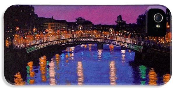 Nighttown Ha Penny Bridge Dublin IPhone 5 Case by John  Nolan
