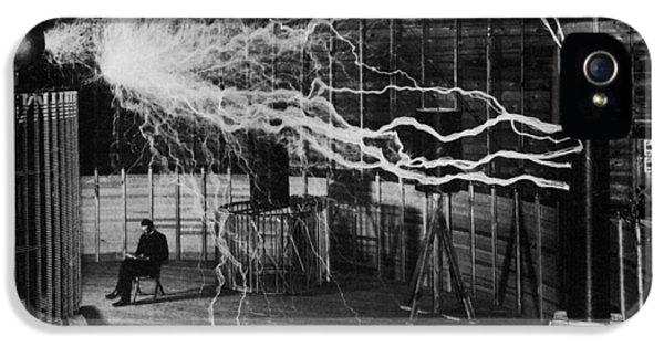 Nikola Tesla - Bolts Of Electricity IPhone 5 Case