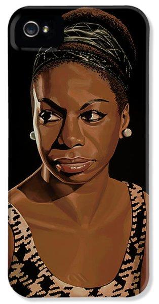 Nina Simone Painting 2 IPhone 5 Case by Paul Meijering