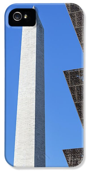 Nmaahc And Washington Monument I IPhone 5 Case by Clarence Holmes