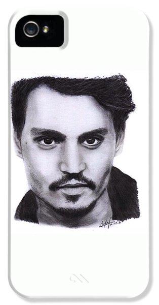 Johnny Depp Drawing By Sofia Furniel IPhone 5 Case