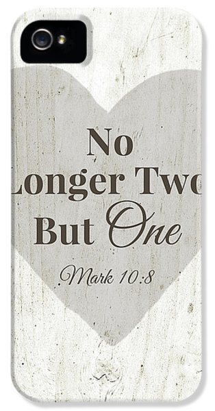 No Longer Two- Art By Linda Woods IPhone 5 Case