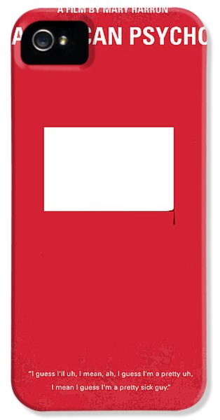 No005 My American Psyhco Minimal Movie Poster IPhone 5 Case by Chungkong Art