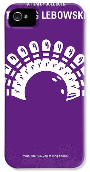 No010 My Big Lebowski Minimal Movie Poster IPhone 5 Case