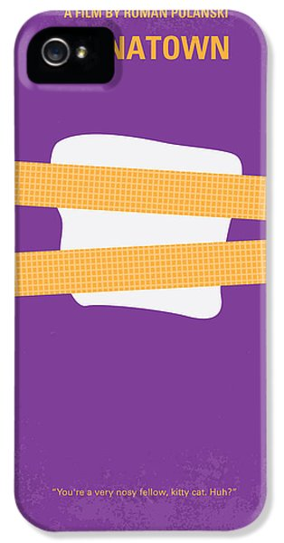 No015 My Chinatown Minimal Movie Poster IPhone 5 Case by Chungkong Art