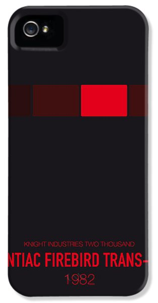 Knight iPhone 5 Case - No019 My Knight Rider Minimal Movie Car Poster by Chungkong Art