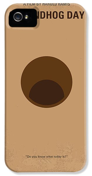 No031 My Groundhog Minimal Movie Poster IPhone 5 Case