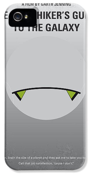 No035 My Hitchhiker Guide Minimal Movie Poster IPhone 5 Case by Chungkong Art