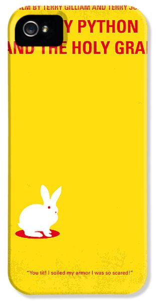 Knight iPhone 5 Case - No036 My Monty Python And The Holy Grail Minimal Movie Poster by Chungkong Art