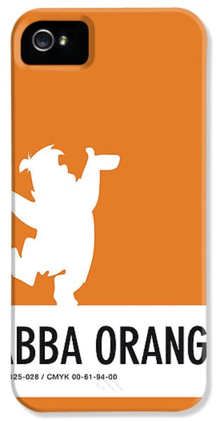Pig iPhone 5 Case - No04 My Minimal Color Code Poster Fred Flintstone by Chungkong Art