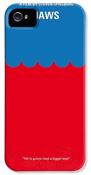 No046 My Jaws Minimal Movie Poster IPhone 5 Case by Chungkong Art