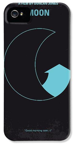 No053 My Moon 2009 Minimal Movie Poster IPhone 5 Case by Chungkong Art
