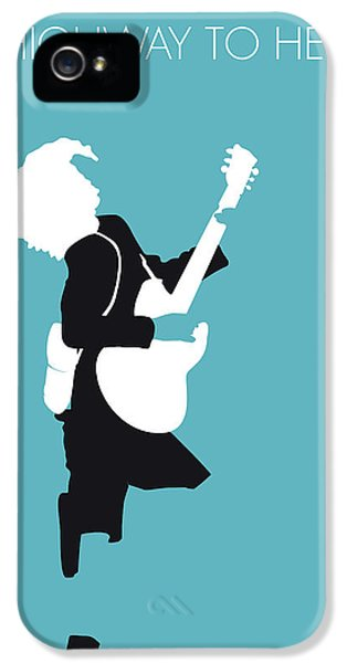 No065 My Acdc Minimal Music Poster IPhone 5 Case by Chungkong Art
