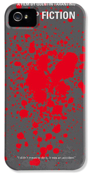 Hollywood iPhone 5 Case - No067 My Pulp Fiction Minimal Movie Poster by Chungkong Art