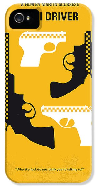 No087 My Taxi Driver Minimal Movie Poster IPhone 5 Case by Chungkong Art