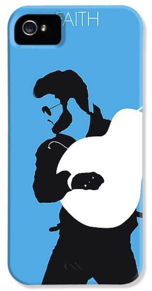 Rhythm And Blues iPhone 5 Case - No089 My George Michael Minimal Music Poster by Chungkong Art