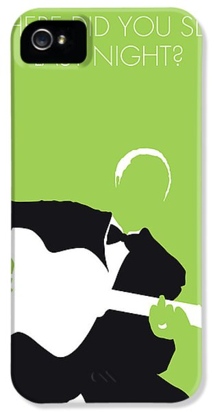 Folk Art iPhone 5 Case - No096 My Lead Belly Minimal Music Poster by Chungkong Art