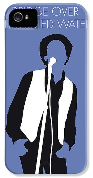 Folk Art iPhone 5 Case - No098 My Art Garfunkel Minimal Music Poster by Chungkong Art