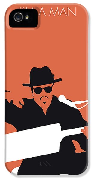 Rhythm And Blues iPhone 5 Case - No103 My Bo Diddley Minimal Music Poster by Chungkong Art