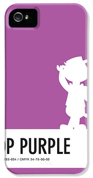 Pig iPhone 5 Case - No11 My Minimal Color Code Poster Top Cat by Chungkong Art